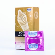 12PCS 5D Dotted Thread Ribbed G Point Latex Condoms Contraceptives Big Particle Spike Condom for Men Sex Products