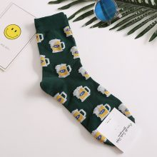 Snack pattern Harajuku happy socks men's funny combed cotton dress casual wedding socks colorful novelty skateboard socks men