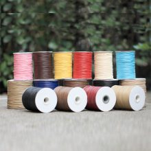 10METER Diy Handmade Wax Line Bracelet Rope Manufacturer Black  Jewelry Accessories Garment Accessories 1mm Environmentally