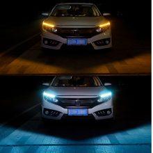 Car Styling 1 Pcs Ultra Bright LED Daytime Running lights 17cm Waterproof Auto Car DRL COB Driving Fog lamp for bmw kia audi