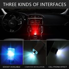 Car styling USB Decorative Lamp Lighting LED Atmosphere Lights Universal PC Portable Plug and Play Red/Blue/White/Green/Yellow