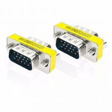 Computer Accessories 1pc 15 Pin HD15 D-Sub DB15 VGA Male to Male Gender Changer Converter Adapter Mayitr