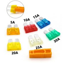 35/30/7PCS Auto Car Boat Truck Mini Blade Fuse 5/7.5/10/15/20/25/30Amp For Small-sized Car Standard Automobile Security Fuse