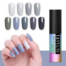 LILYCUTE Nude Series Nail Polish 5ml Purple Red Black Gray Soak Off UV Gel Polish Glue Lacquer Manicure Nail Art Varnish Tool