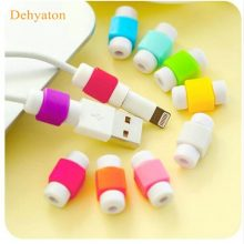 Dehyaton Cable Protector Data Line Colors Cord Protector Protective Case Long Size Cable Winder Cover For iPhone USB Charging
