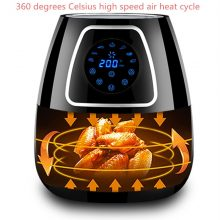 220V 5L Electric Air Fryer Smokeless And Oilless French Fries Maker Machine Non-stick Household Electric Food Fryer EU/AU/UK/US