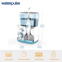 Waterpulse V300G Oral Irrigator 5pcs Tips Dental Water Flosser Water Floss 800ml Oral Hygiene Dental Flosser Water Flossing V300