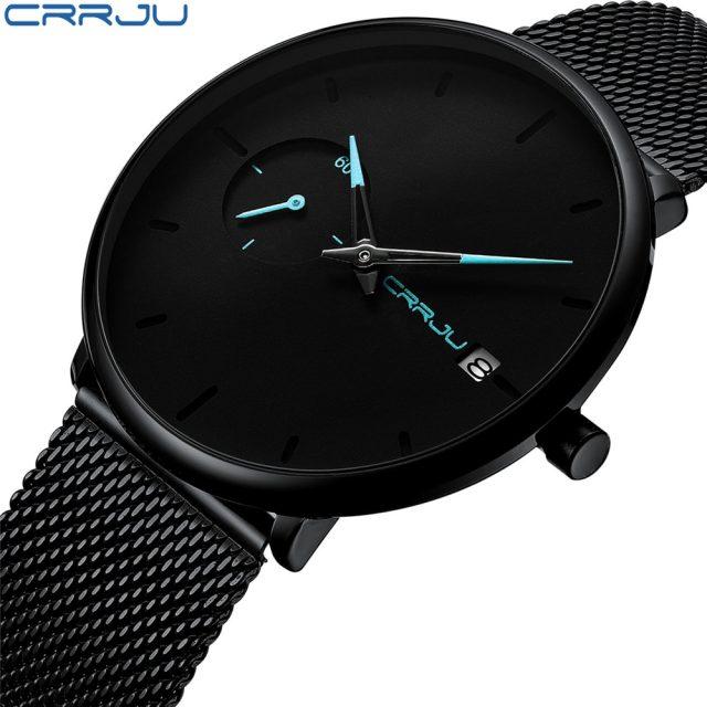 3a34a677 Crrju Men Watch Waterproof Date Calendar Analogue Wristwatches Mens ...