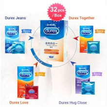 Durex Condom 100/64/32 Pcs Box Natural Latex Smooth Lubricated Contraception 4 Types Condoms for Men Sex Toys Products Wholesale