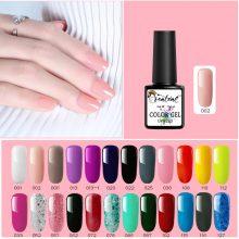 Beateal 29 Colors 8ml Pure Semi-Permanent Nail Gel Polish UV Led Lacquer Hybrid Long Lasting UV Gel Nail Polish Nail Sticker