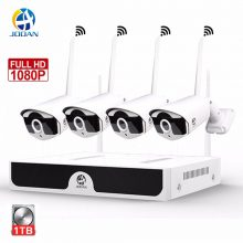 JOOAN Wireless Security Camera System 4CH CCTV H.265+ NVR 1080P WIFI Cameras Outdoor Night Vision 20m Video Surveillance system