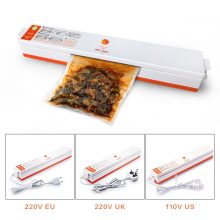 Household Food Vacuum Sealer Packaging Machine 110V 220V Film Sealer Vacuum Packer 15 Bags Vacuum Food Sealer