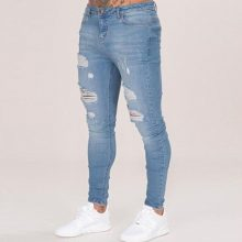 Cotton Jean Men's Pants Vintage Hole Cool Trousers for Guys 2019 Summer Europe America Style Plus Size 3XL ripped jeans men