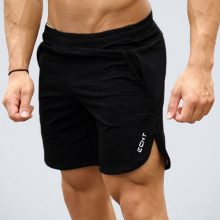 Mens Summer cotton fitness shorts Fashion Casual gyms Bodybuilding Workout Joggers male short pants Brand Beach Loose Sweatpants