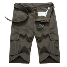 2017 New Summer Casual Shorts Men Cotton Mens Cargo Shorts Multi-pocket Male Shorts  Bermuda Stylish Plus Size High Quality B1