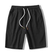 MFERLIER Summer Shorts men Cotton linen 5XL 6XL 7XL 8XL 4 color Breathable casual men shorts