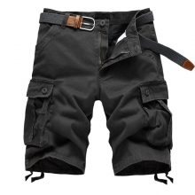 2018 NEW Summer Men's Baggy Multi Pocket Military Zipper Cargo Shorts breeches Male Long Army Green Khaki Mens Tactical Short