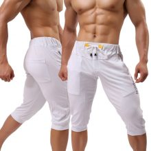 Fashion Men's Cotton Shorts Casual Trousers Bermuda Beach Male Pants Elastic Band Capris Short Street Baggy Hip Hop Short pants
