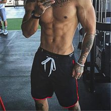 Brand Summer Mens Shorts Knee Length Fitness Shorts Bodybuilding Solid Casual Joggers Workout Crossfit Gyms Shorts Sweatpants