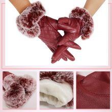 Tablet Screen Touch Gloves Womens Winter Tablet Phone Gloves Full Finger Touch Screen Mittens Lined