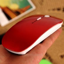 2018 promotion Computer Mouse Mice for Laptop Notebook! Ultra Thin 2.4G Optical Wireless Mouse USB Receiver Air Mouse Cordless