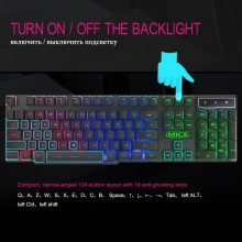Gaming Keyboard Mechanical Feeling Keyboard 104 Keycaps RGB Backlit Keyboard Computer Gamer Keyboard For Laptop DOTA