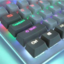 MP Cherry MX switch 108/87 Keys PBT Keycap Backlit Double Shot White&Gray Retro Keycap for Mechanical Gaming Keyboard