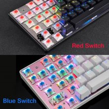 Original Motospeed CK104 Gaming Mechanical keyboard Wired Metal Blue Red Switch Russian V30 LED Backlit RGB for gamer Computer