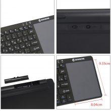 Genuine Zoweetek K12BT-1 Mini Wireless Bluetooth Keyboard Russian English Spanish Touchpad For smart tv box PC Android phone Pad