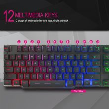 iMice Gaming Keyboard with Backlight Gamer Keyboard 104 Keys Mechanical Feel Game Backlit Keyboards with RU Sticker for Computer