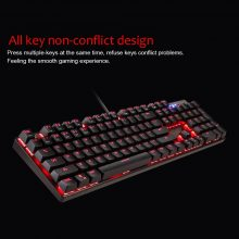 MOTOSPEED 104 Keys USB Wired Pro Gaming Keyboard Mouse USB Wired Colorful Keyboard and Mouse for Tablet Desktop PC Games
