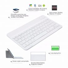 Kemile Ultra Slim Portable Wireless Bluetooth Aluminium 9.7inch Keyboard with Micro Charging Port for IOS Android Tablet Windows