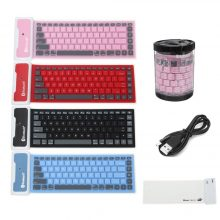 Foldable Waterproof Universal Portable Bluetooth Wireless Soft Silicone Keyboard For Laptop For iPad New Smart Phone Keyboard