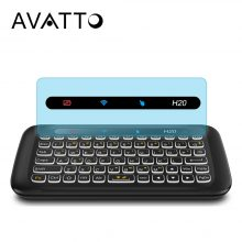 AVATTO Russian/English Big Full Touchpad Backlit mini Keyboard with 2.4GHz Wireless Air Mouse for PC Smart TV,Android Box