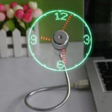 New USB Gadget Mini Flexible LED Light USB Fan Time Clock Desktop Clock Cool Gadget Time Display For Notebook Laptop Flexible