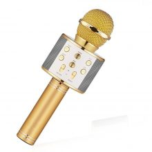 Wireless Ws858 Karaoke Microphone Portable Bluetooth mini home KTV for Music Playing and Singing Speaker Player Selfie PHONE PC