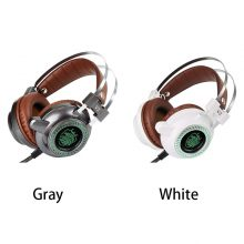 Laptop Peripherals V2 USB Gadget Wired Gaming Speakers Headset 3.5mm LED Stereo PC Headphone Microphone Stereo Bass LED Light