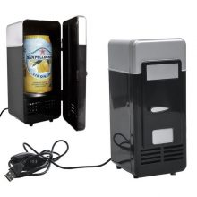 New Portable Mini USB Fridge Cooler Beverage Drink Cans Cooler/Warmer Refrigerator for Laptop/PC QJY99
