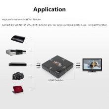 JZYuan 3 Port HDMI Splitter Switcher 1×3 Mini HDMI Port 3 Input 1 Output for HDTV 1080P Video DV HDTV 1080P hdmi kvm switches