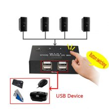 4 port usb printer sharing switcher device 4 in 4 out computer mouse and keyboard file sharing device Share 4 USB devices