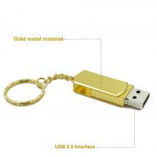 Metal pen drive 16GB 32GB gold sliver pendrive portable memory stick 64GB 128GB U disk stainless usb flash drive 8G high quality
