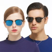 Men sunglasses Brand designer Classic UV400 Mirror Lady Sun Glasses Male Female L rayed Small Size Hot Half Frame women