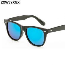 ZXWLYXGX New Fashion Unisex Vintage Lens Sunglasses mens Women Brand Designer Rivets Design Retro Sun glasses gafas oculos