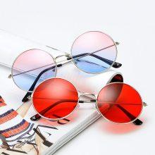 ZXRCYYL 2018 NEW Burst metal circular fashion marine lenses red sunglasses men and women personality Prince Mirror UV400