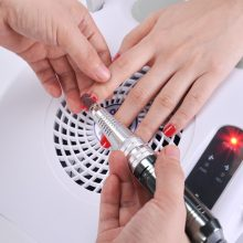 Biutee Pro 3 in 1 Multifunctional Nail Art Drill Suction Dust Collector Machine Nail Drill & Dust Collector with Desk Lamp