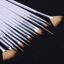 15 Pcs Professional Nail Art Brush Set Line Drawing Painting Pen UV Gel Polish  Acrylic Perfect Manicure Nail Dust Collector