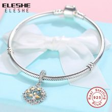 Silver Charms Fit Original Pandora Charm Bracelet Necklace 925 Sterling Silver Bow Love Heart European Charms Beads DIY Jewelry