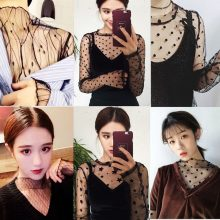 Ruoru Women Sexy Harajuku Mesh Tops Net See Through T Shirt Transparent Undershirt Star Base Top Camisas Femininas Clubwear