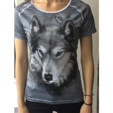 FORUDESIGNS 3D Cat Animal T Shirt for Women Brand Clothing Female Short Sleeved Casual Tshirt Comfortable Elastic Hip Hop Tees